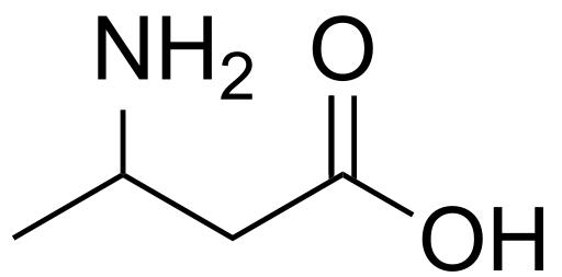 Image of a beta-aminobutyric acid (BABA) molecule.