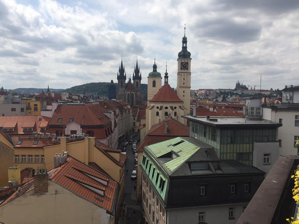 Image: View from the rooftops in central Prague. Credit: Katie Field.