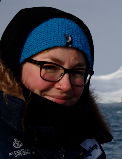 Dr Clara Hoppe on expedition in the Arctic. (Photo: Alfred-Wegener-Institut)