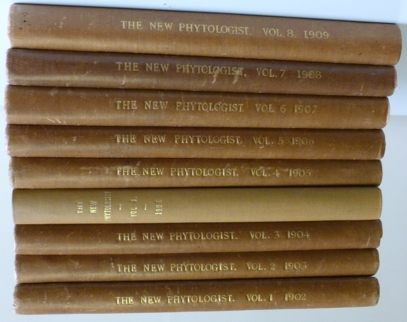Photo of Volumes 1 – 8 of The New Phytologist