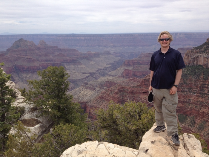 William Anderegg at the Grand Canyon