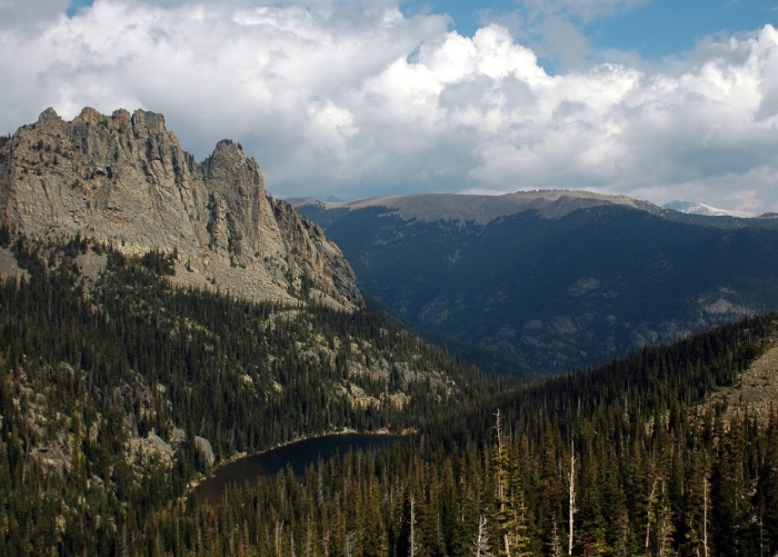 Odessa Lake and subalpine forest in Rocky Mountain National Park, Colorado, USA. Photo: P. Higuera